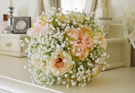 Gelin Buketi Bebek Nefes Romantik Atifik Çiçek Düğün Aksesuarları