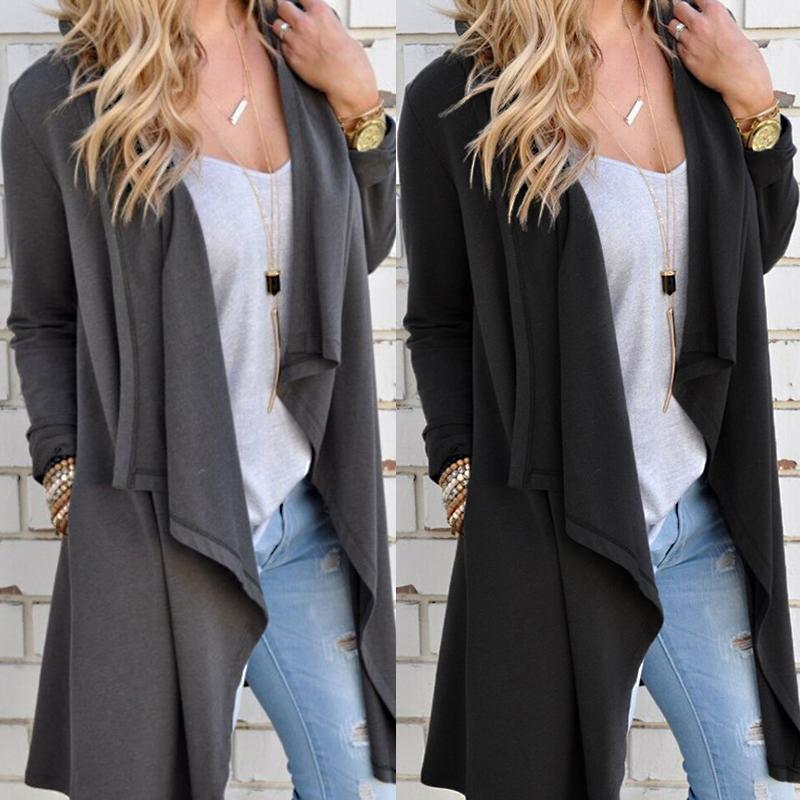 Moda donna irregolare cardigan casual allentato primavera autunno manica lunga divisa maglia coperta Top maglione femminile DLD1151