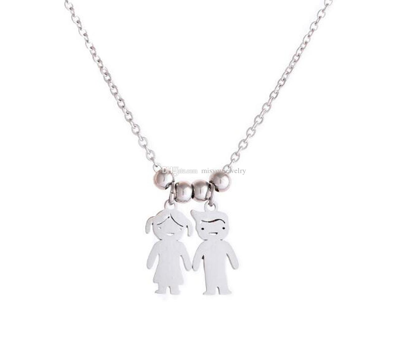 Wholesale Silver Cute Simple Clavicle Necklace Daily Wear Couple Girlfriends Doll Pendant Stainless Steel Valentines Day Gift Gold Name Necklace Mens Gold Chains From Misyoujewelry 0 54 Dhgate Com