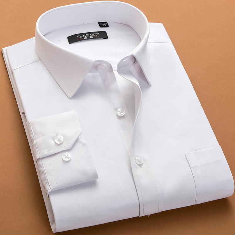 2018 плюс размер 6xl мужчины Платье рубашка белый розовый зеленый с длинным рукавом мода человек рубашки свободные мягкие бизнес рубашки Мужская одежда заводская цена