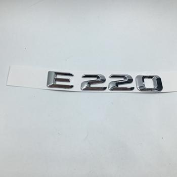 CHROME BENZ E250 REAR TRUNK LETTERS BADGE EMBLEM FOR MERCEDES BENZ E-CLASS