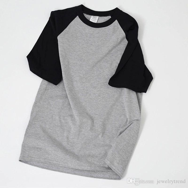 T-shirt uomo estate patchwork T-shirt T-shirt uomo casual manica corta in cotone magliette 5 colori S-2XL C3696