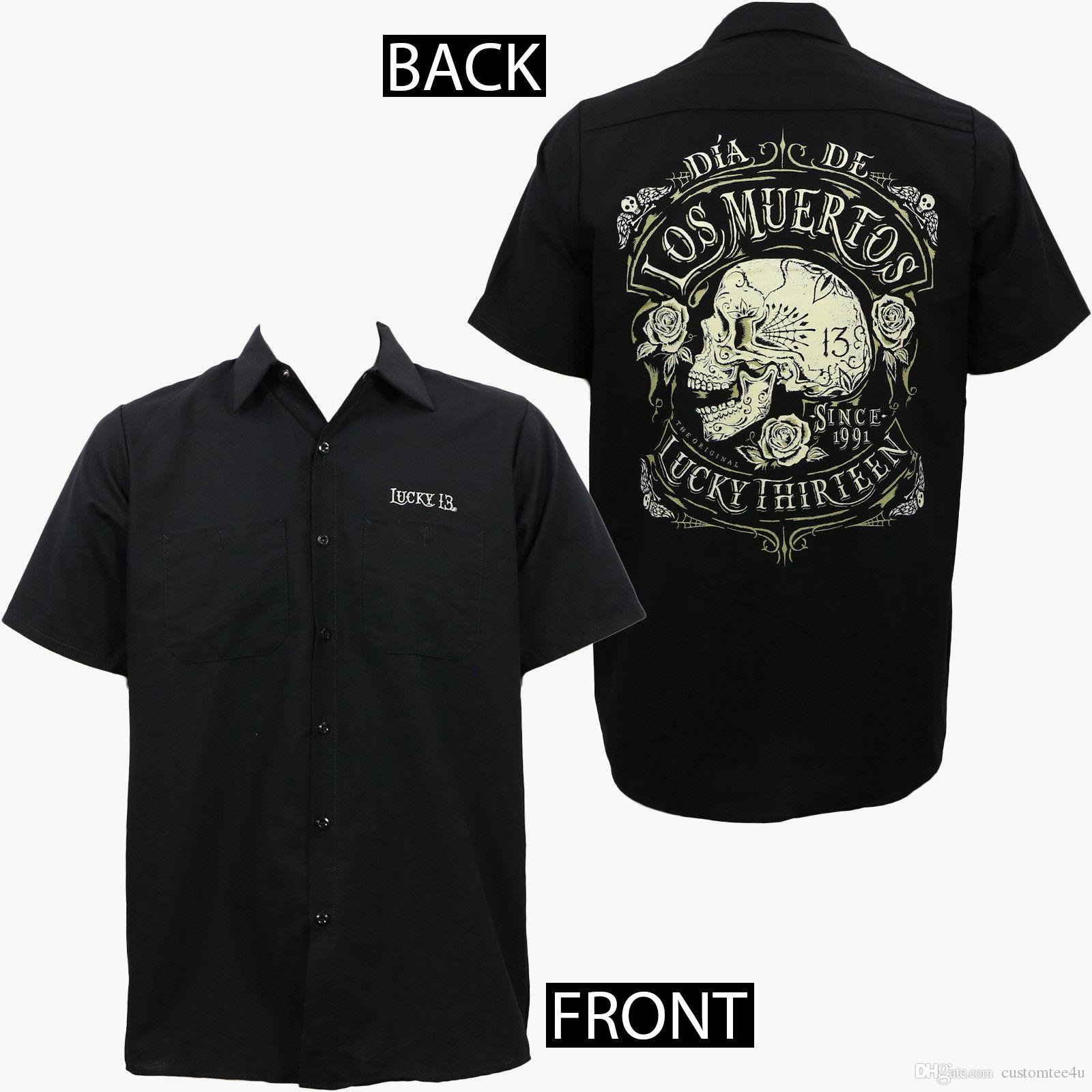 Lucky 13 Mens Muerto Work Shirt Black