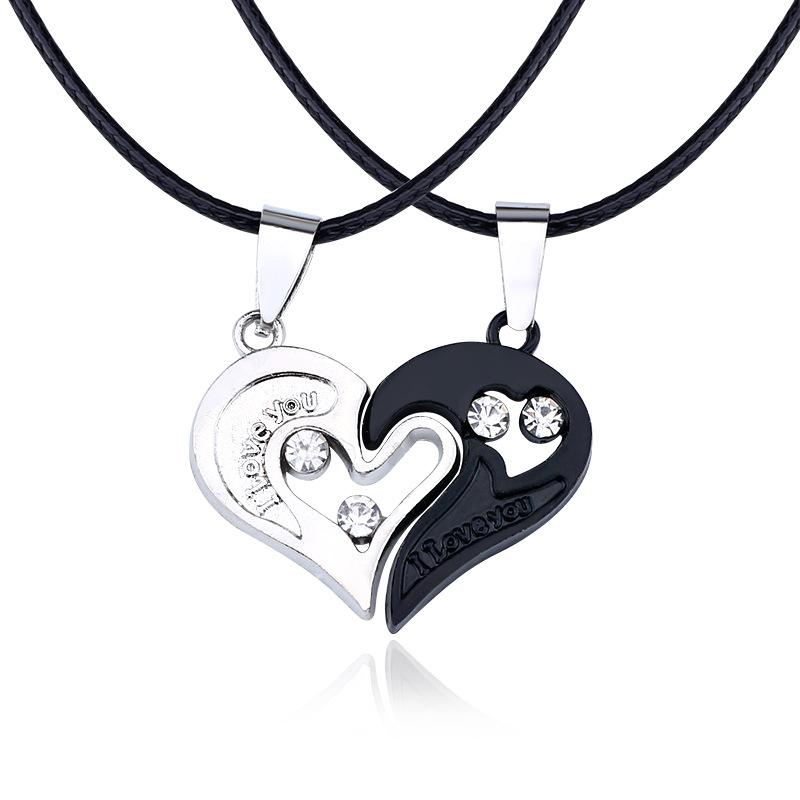 Love Couples Necklaces Yin Yang Pendant Couples Paired Necklaces Pendants Valentine's Gift For Lovers Couples Jewelry Women Men Necklace