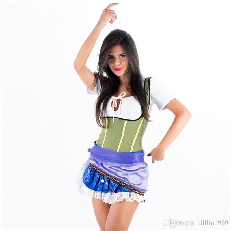 Sexy Caribbean Pirates Costume For Women 50% Short Sleeve Halloween Theme Costume Carnival Stage Show Cosplay Fancy Dress