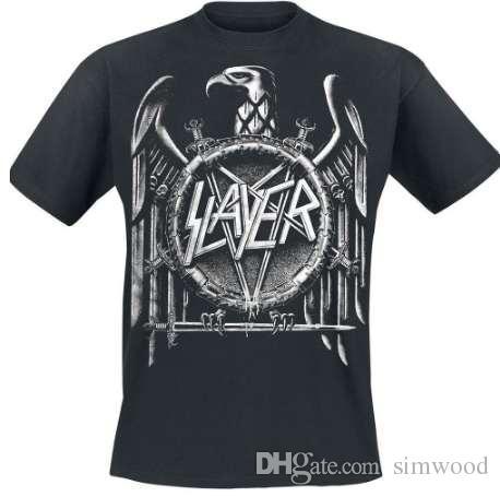 Slayer 'Eagle' Quaste Aufdruck T-Shirt Style Vintage Tees Short Sleeve Funny Top Tee Cool T Shirts Designs Best Selling Men