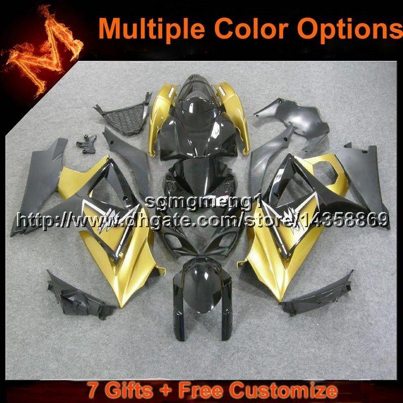 Cappuccio moto 23colors + Gifts oro per Suzuki GSX-R1000 07 08 GSXR1000 2007 2008 Carena motore ABS