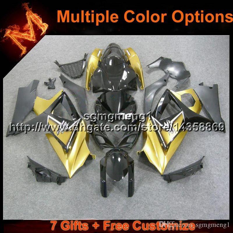 23 цвета + подарки золотой капот мотоцикла для Suzuki GSX-R1000 07 08 GSXR1000 2007 2008 ABS мотор Обтекатель