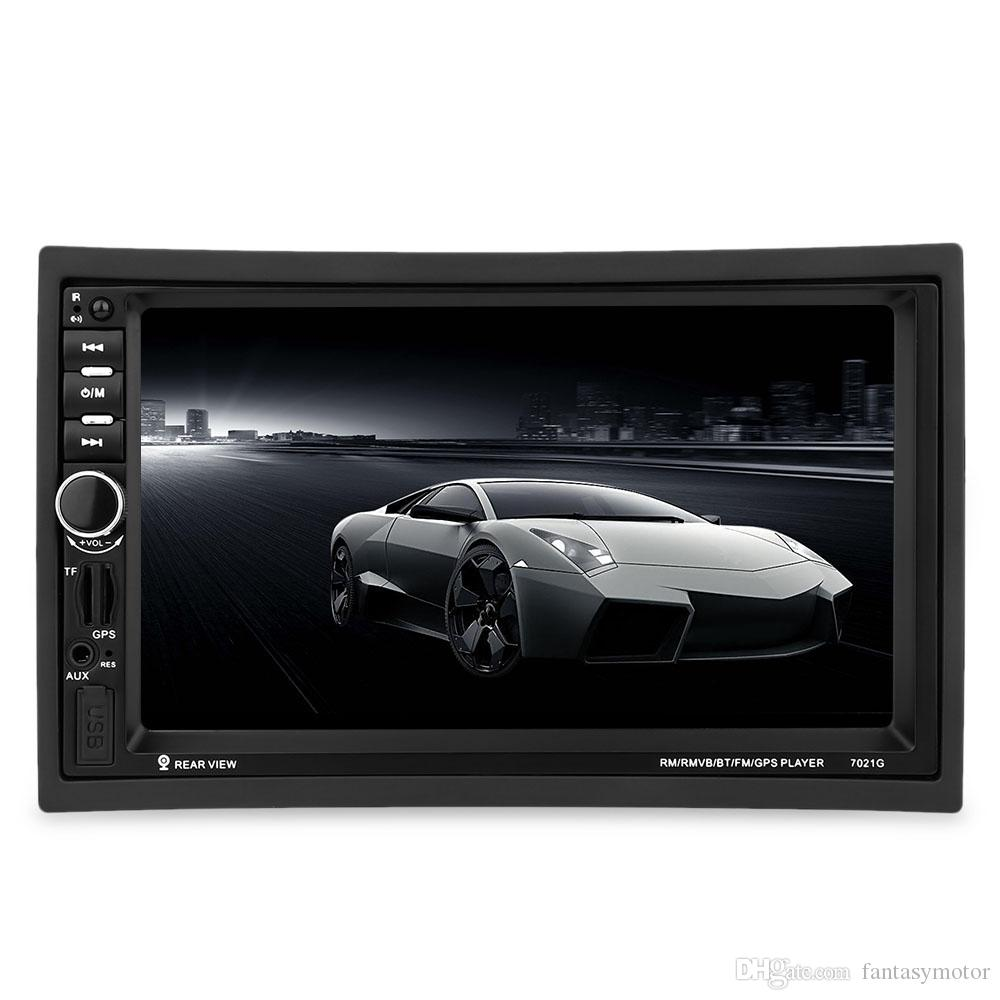 Car Player 2 Din Car MP4/MP5 Player 7inch Touch Screen With Radio GPS Function SD USB AUX Rear View Steer Wheel Control Car Player