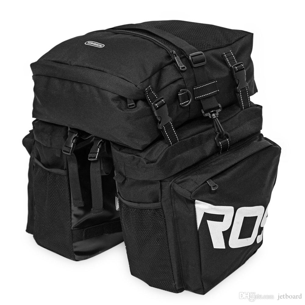 Roswheel 37L Durable Water Resistant 3 in 1 Bicycle Rear Pannier Bag 3 in 1 bag with 2 side and 1 top bag