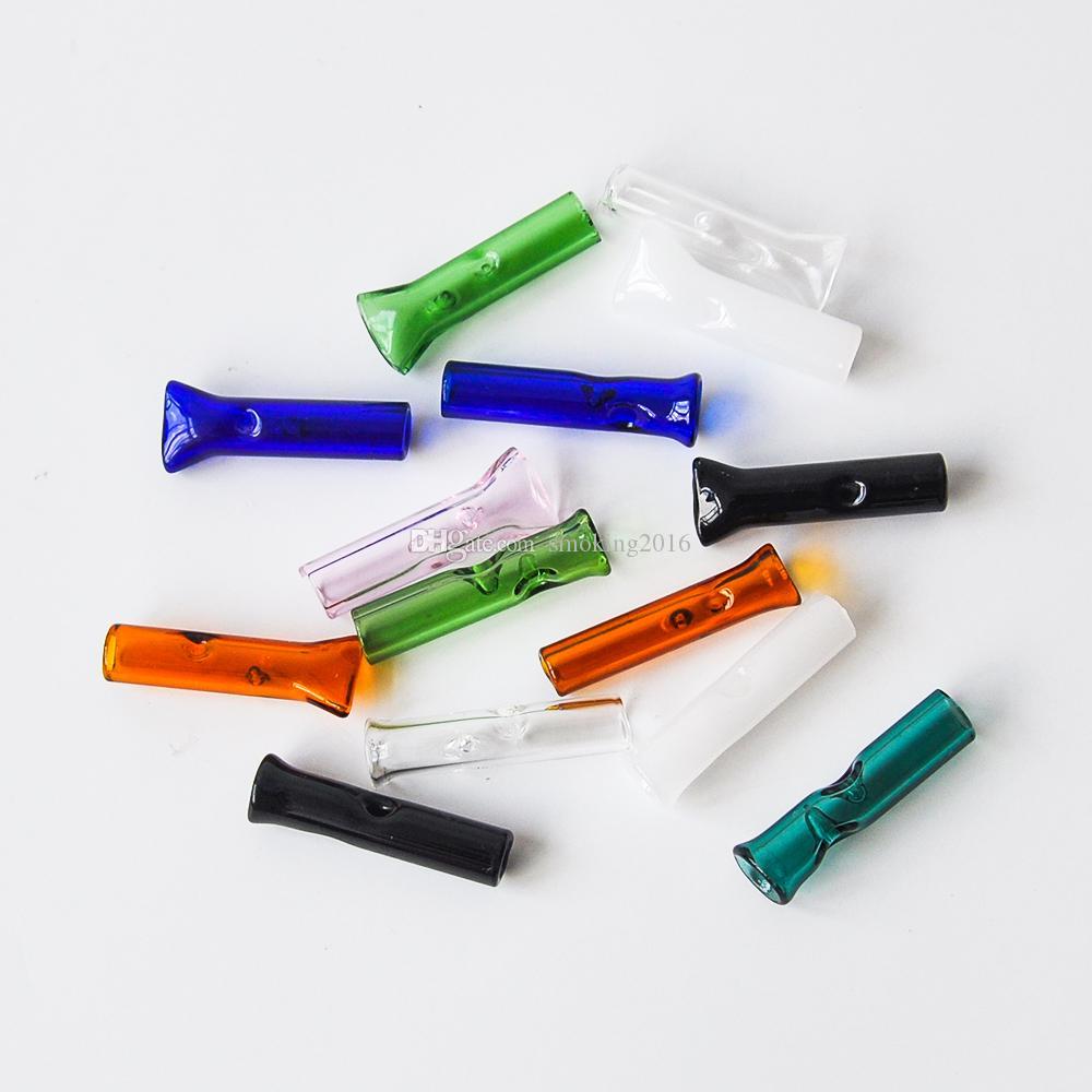 무료 배송 유리 필터 팁 담배 건조 허브 RAW 롤링 페이퍼 Cypress Hill 담배 필터 35mm 길이 유리 필터 팁