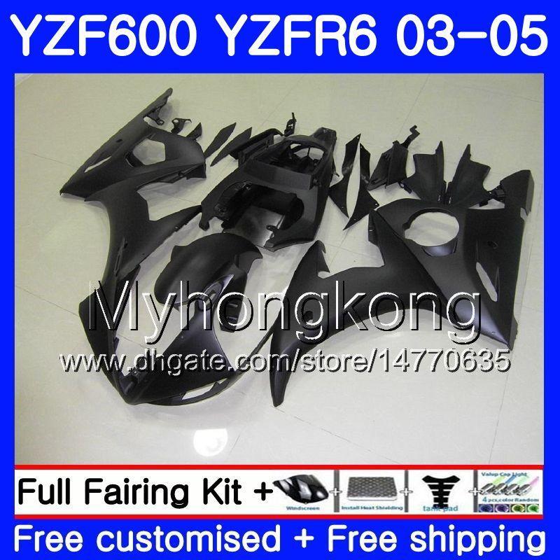 Cuerpo para YAMAHA Mate negro stock YZF600 YZF R6 03 04 05 YZFR6 03 Carrocería 228HM.11 YZF 600 R 6 YZF-600 YZF-R6 2003 2004 2005 Fairings Kit