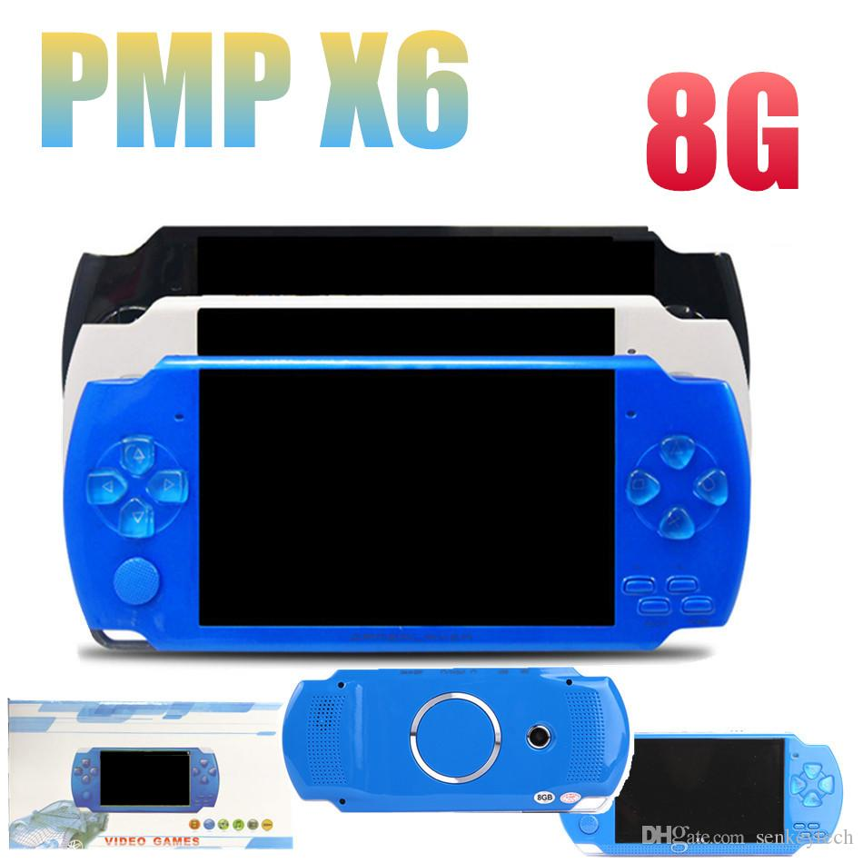 1 PCS de Alta Qualidade 8 GB 4.3 Polegada Handheld PMP Consola de jogos MP3 MP4 MP5 Player Vídeo E-book Cameria Pode Armazenar 1000 jogos