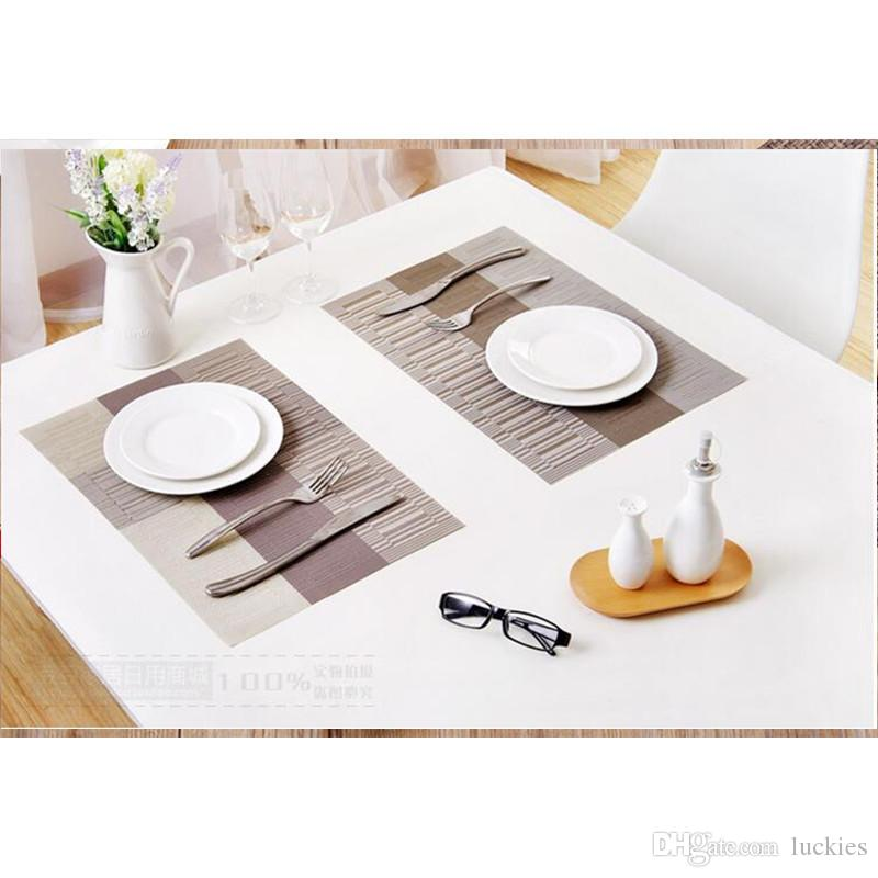 Fashion Pvc Dining Table Mat Dise Bowl Pad Coasters Waterproof Table Cloth Pad Slip-Resistant Pad 021