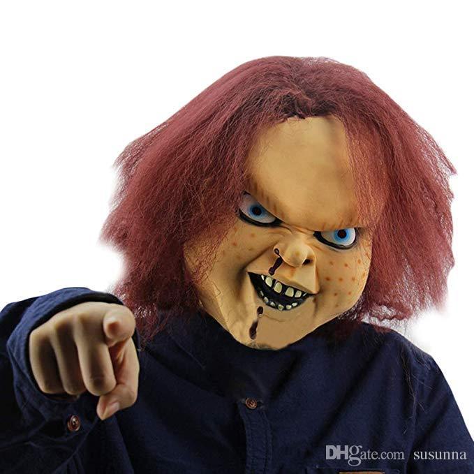 New Halloween Mask Men Christmas Latex Mask Chucky the Killer Doll Mask Carnival & Halloween Dress Props
