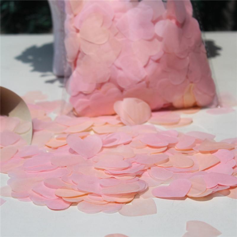 복숭아 홍당무 핑크 생 분해성 하트 티슈 페이퍼 PETALS 교전 테이블 DECOR CONFETTI 웨딩 게스트 콘서트 던지기