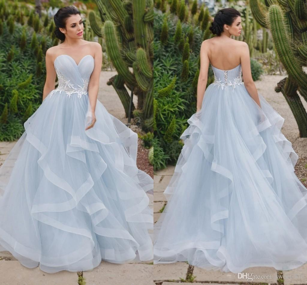 2019 Eye Catching Silver Blue Ball Gown