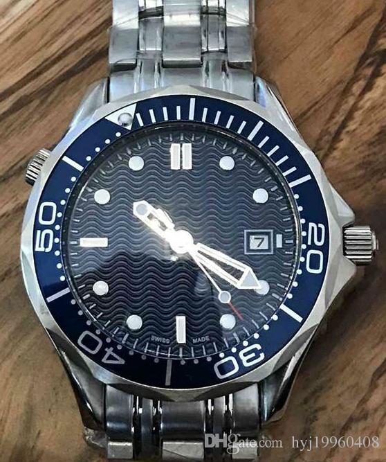 007 черный циферблат Limited Edition мужские часы профессиональный таймер, нержавеющая сталь часы с автоподзаводом 43мм. Первоклассное качество, самая низкая цена.