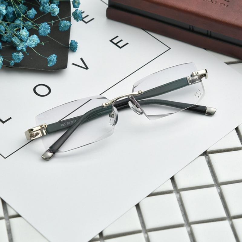 Occhiali da lettura in metallo anti-fatica Occhiali da lettura senza montatura Occhiali da vista a prova di radiazioni
