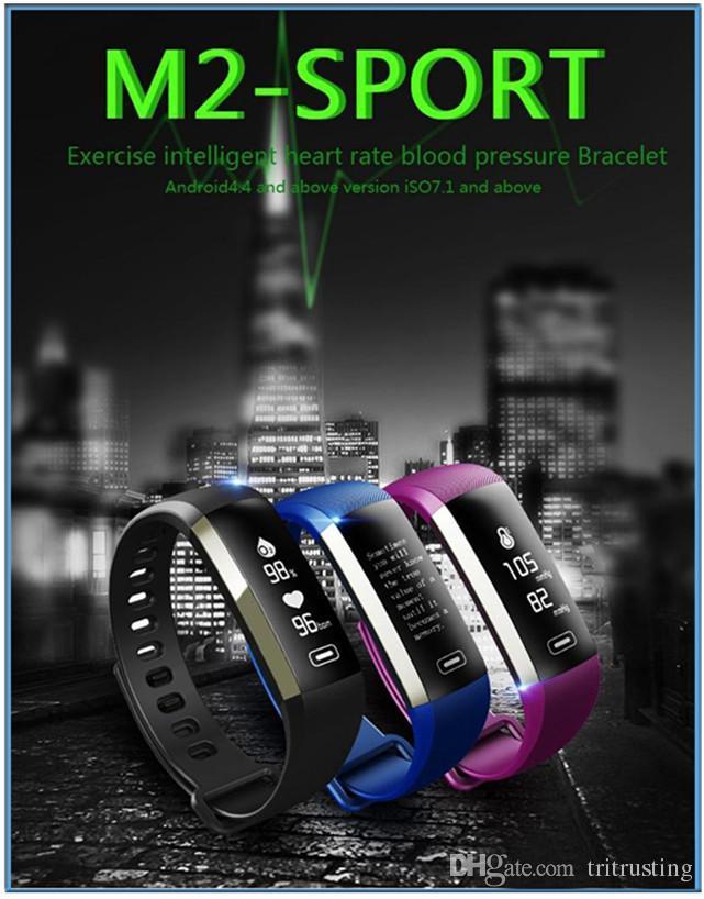 M2 Pro Smart Wristband Fitness Tracker Bracelets Heart Rate Blood Pressure Watch Pulse Meter Oxygen Waterproof SMS Call Sport Band MQ20