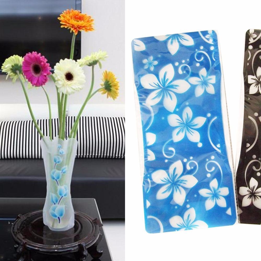 Hot Sale Plastic Unbreakable Foldable Reusable Vase Flower Home Decor Wholesale Random Color Pattern Tall Flower Vase Tall Flower Vases From Hilery 12 67 Dhgate Com