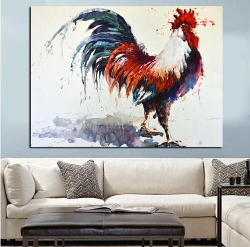 HD Print Abstract Hahn Aquarell Ölgemälde auf Leinwand Wandbild Kunst Tier moderne Cuadros Dekoration für Wohnzimmer