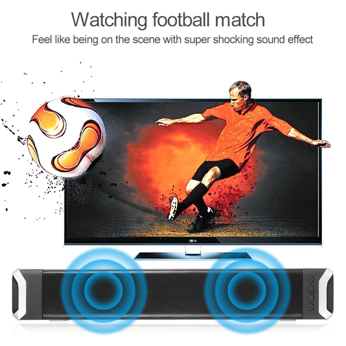 bluetooth Soundbar домашний кинотеатр ТВ динамик сабвуфер беспроводные стереодинамики TF карта-объемный звук бар ТВ Оптовая DHL бесплатно