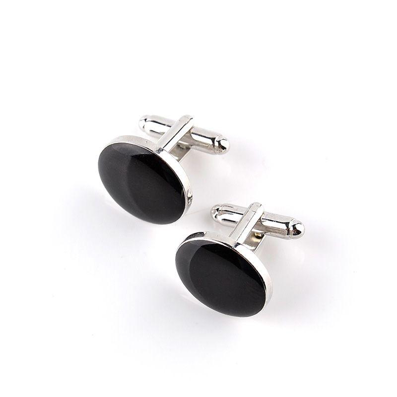 Basit Siyah Beyaz Düğme Üst Kalite Erkekler Lüks Kol Düğmeleri Düğün İş Fransızcası Moda Aksesuar Kol Düğmeleri Erkekler Kol Düğmeleri 10pairs