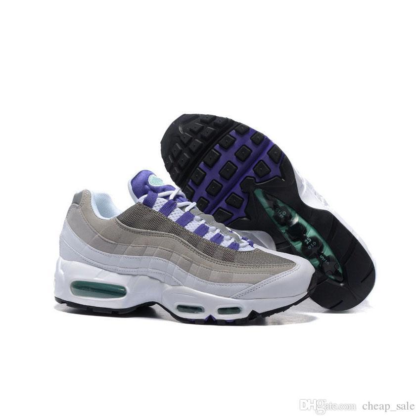 Compre Nike Air Max Airmax 95 Nuevo Top Laser Fucsia Hombres Zapatillas De Running Para Hombre Púrpura Verde Naranja Triple Negro Diseñador Zapatillas