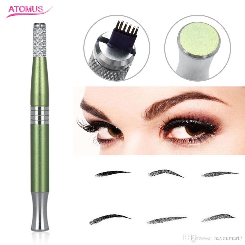 Single-head Thread Manual Cosmetic Antiskid Tattoo Eyebrow Cross Pen Machine For Permanent Makeup Spray Permanent Supply Stainless steel
