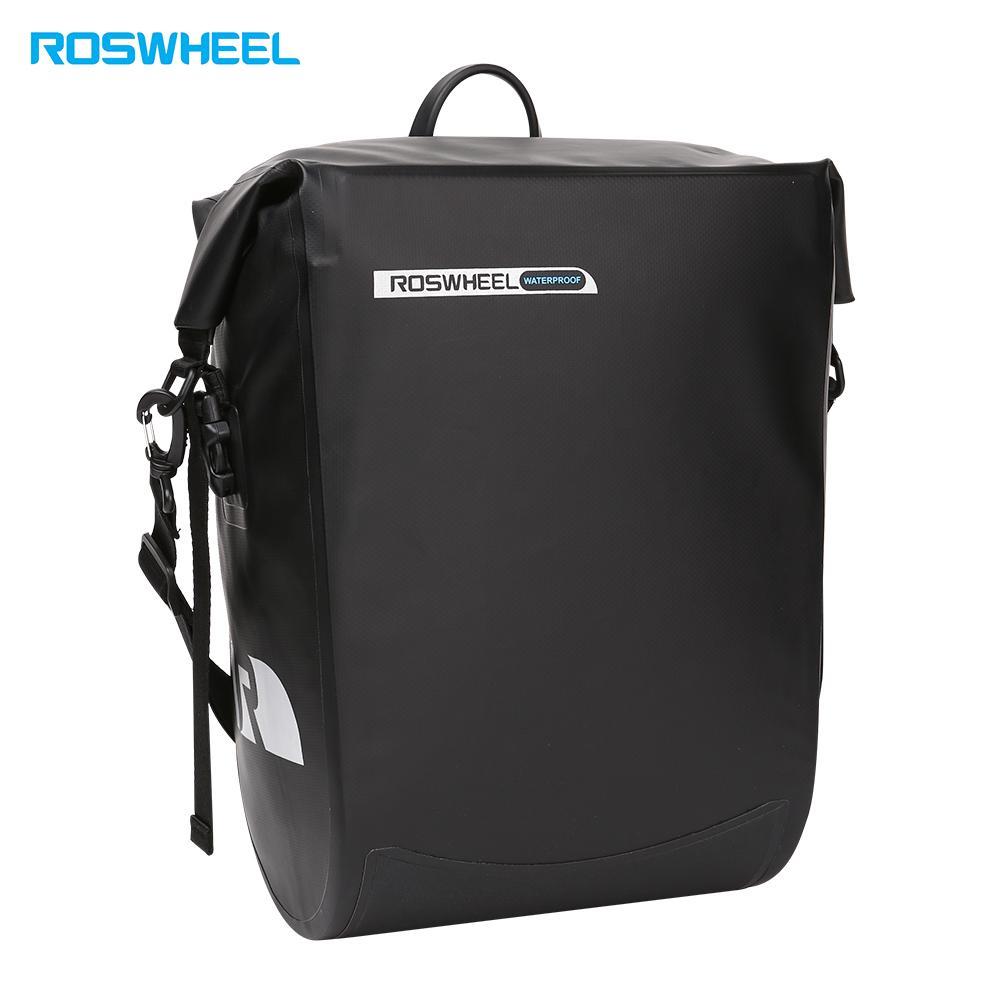 Roswheel Waterproof Bike Carrier Bag Bicycle Bag Bicycle Rear Rack Bags Hanging Pannier