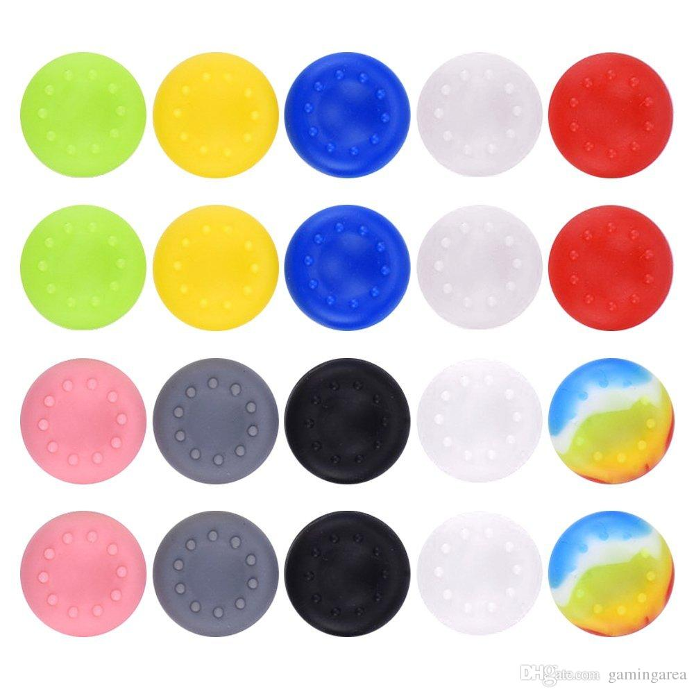Rubber Silicone Skidproof Hand Thumbstick Grips Thumb Grip Cap Caps Cover for PS4 PS3 XBOX ONE 360 controller DHL FEDEX EMS FREE SHIPPING