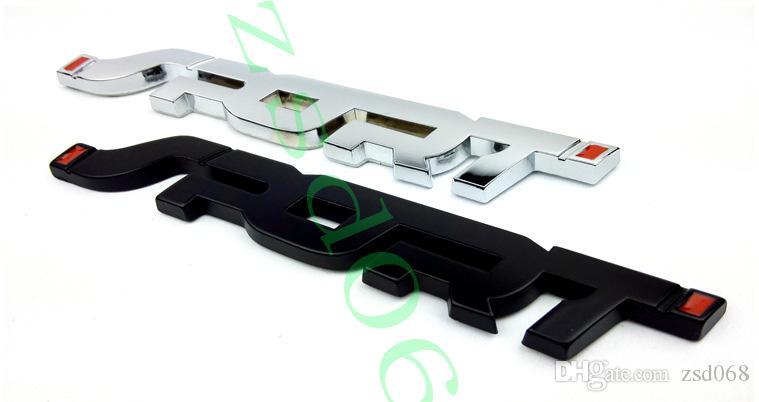 1 배 블랙 크롬 금속 스포츠 자동차 엠블럼 배지 스티커 포드 페스티 몬 초점 DIY를 들어 자동차 스타일링