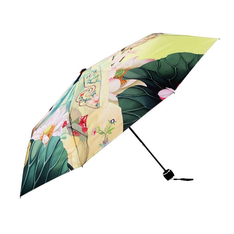Бесплатная доставка старинные печатных дождь зонтик женщин анти УФ зонтик складной зонтик открытый солнце дождь