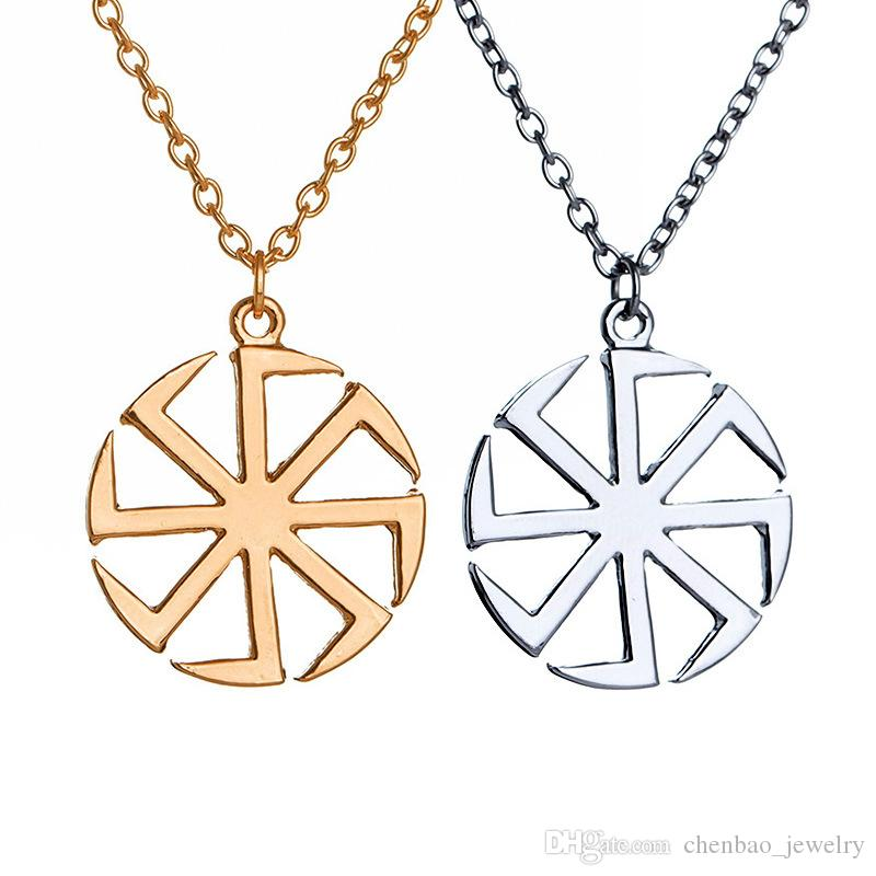 Wholesale New Arrive Heretic Religionary Sun Amulet Charm Chain Necklace Pendant for Fashion Jewelry People Gold & Silver