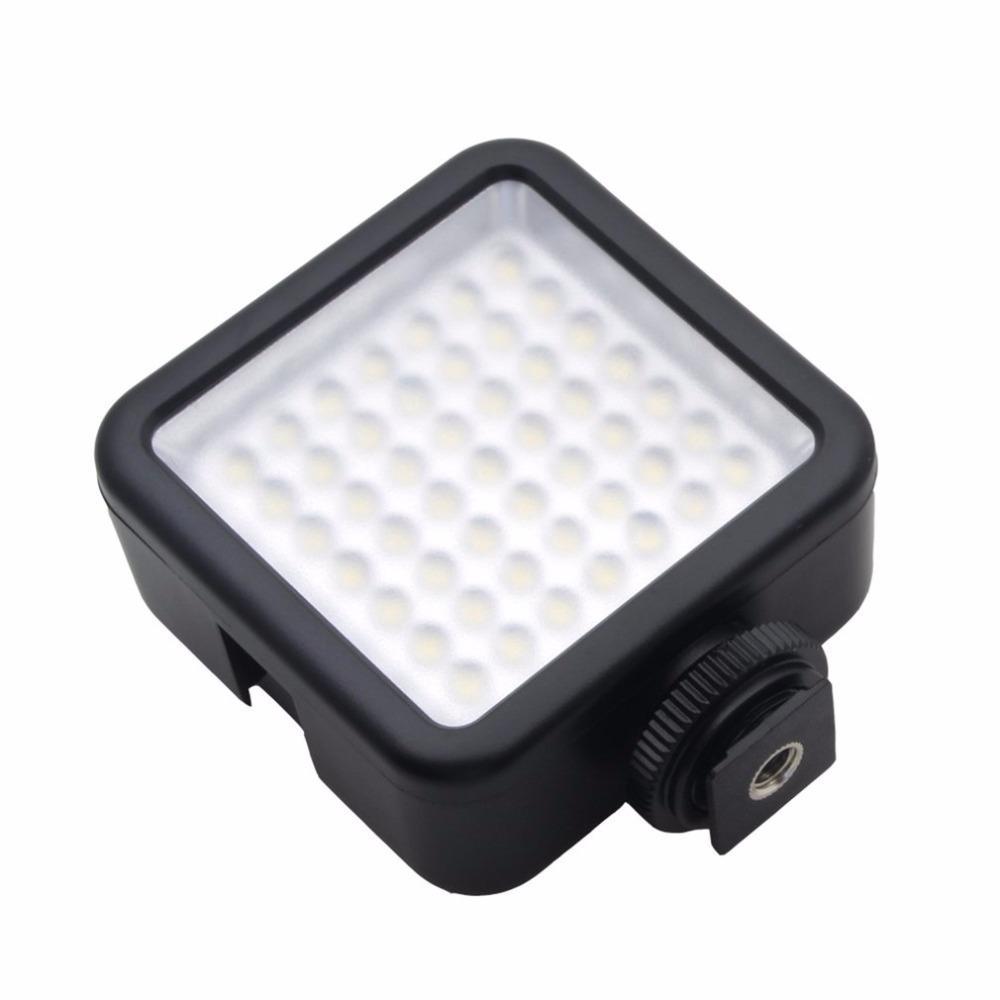 Freeshipping Larga Vida 5.5W 800lm 6000K mini lámpara portátil de luz de vídeo LED 49 fotográfico Foto de iluminación para la fotografía de la cámara