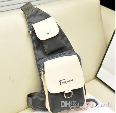 2018 neue Brusttasche unisex Herren Damen Cross-Body Messenger Geldbörse wasserdichtes Gewebe im Freien Umhängetasche Marke Designer Handtasche