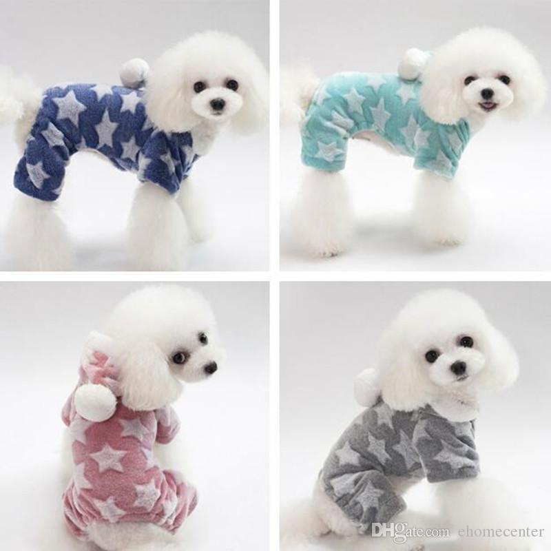 Одежда для собак кашемир пижамы одежда Pet вниз с капюшоном свитер одежда костюм милый пальто собака Pet зимняя одежда для собак теплая одежда PD044