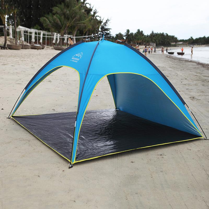best website 46752 a56d8 4 People Beach Tent Ultralight Beach Camping Tent Sun Shelter Large Outdoor  Folding Awning Tenda Wind Resistant Tents Anti Uv Screen Tents Outwell ...