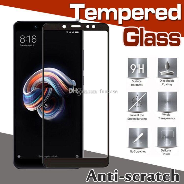 Fibra de carbono 3D Vidrio templado de la cubierta completa 9H Pantalla de la prueba Protector de la película de la Guardia para Xiaomi Mi 8 SE 6 Más 6X 5 5C 5X 5S Nota 3 Mezcla 2S Max 2