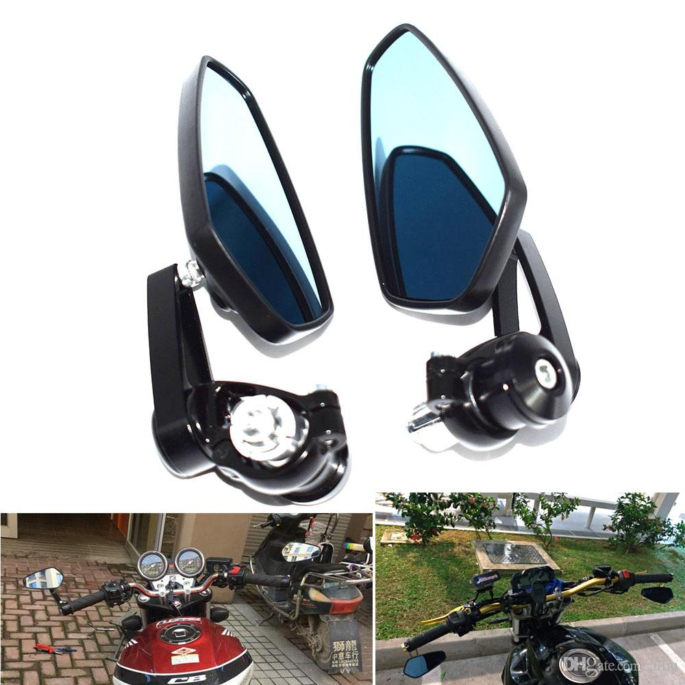 """For 1 Pair Aluminum Universal Scooter Motorcycle Side Rear Rearview Mirror Moto Motorcycle Bar End 7/8"""" Mirrors Honda For Harley"""