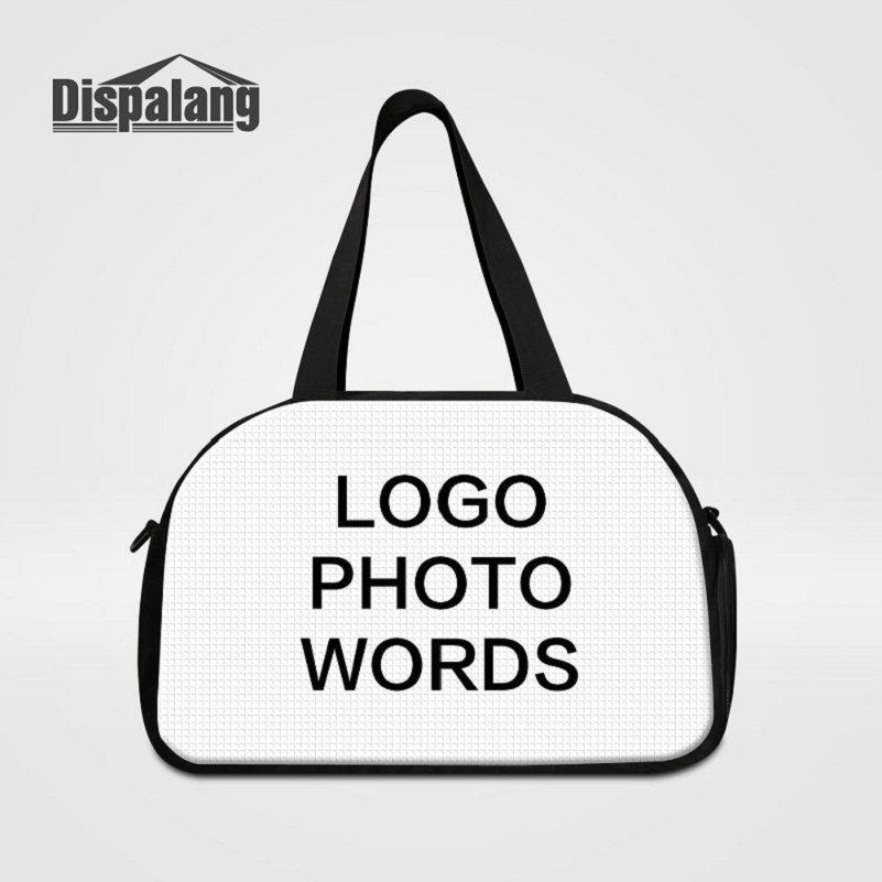 Women Men Personalized Design Travel Duffle Bag Customize Your Own Logo Photo Weekend Overnight Handbag Students Sport Bag With Shoes Pocket