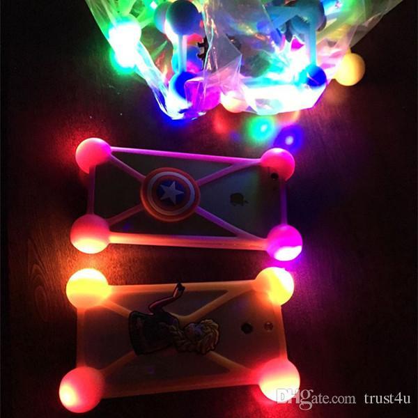 Universal LED Slicone pare-chocs de téléphone cas de la lampe de bande dessinée 3D lumineuses cas de couverture de cadre de téléphone pour iphone x 8 6 7 plus samsung s9 s8 plus