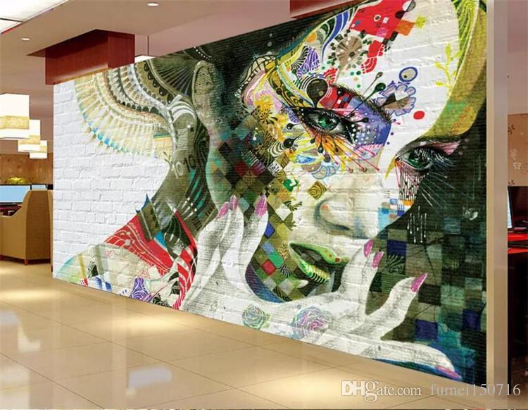 Foto personalizzata 3d carta da parati murale non tessuto Graffiti dipinto bellezza TV sfondo muro dipinto soggiorno carta da parati per pareti 3d