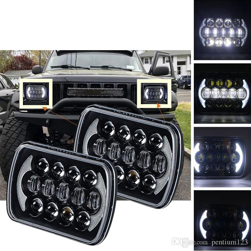 """5 """"X 7"""" 5 Inç X 7 Inç Jeep Cherokee XJ Kamyonlar için LED Far Değiştirme"""
