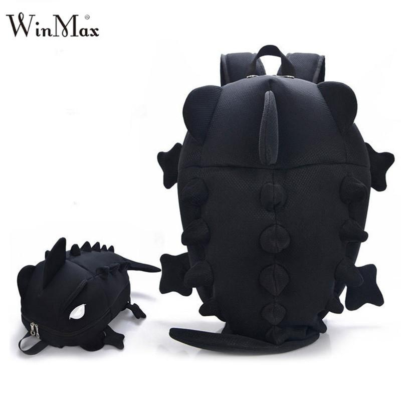 Factory Outlet 2018 Creative Kids 3D Animal Backpack Dinosaur Shape Children Primary Cartoon School Bags Teenager Book Schoolbag Y18110107