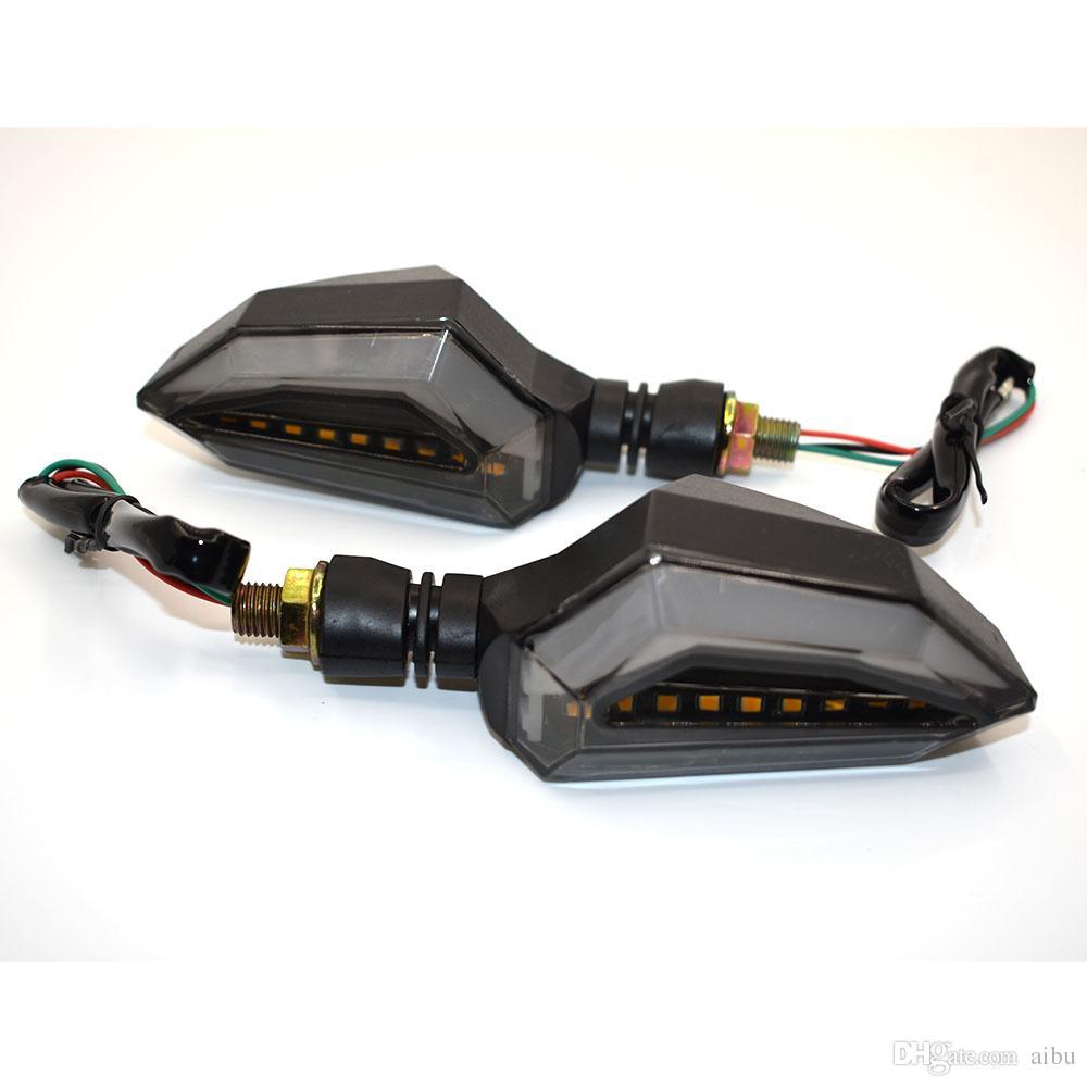 Indicateurs de haute 2pcs pour moto LED Performance Clignotant Ambre clignotant Lumi/ère 12V lampe Moto Super Bright Facile /à installer