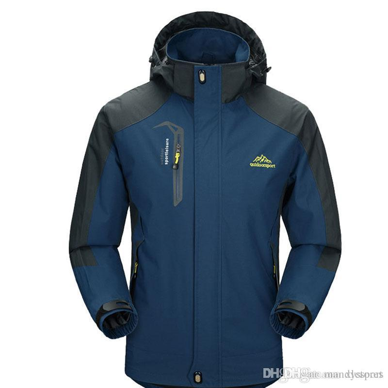 Yeni Bahar Sonbahar Erkek Softshell Yürüyüş Ceketler Erkek Açık Kamp Trekking Tırmanma Ceket Su Geçirmez Rüzgar Geçirmez VA002 Için