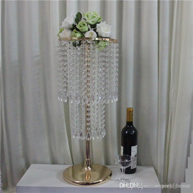 Centrotavola centrotavola in cristallo color oro con perline in acrilico 60cm di altezza per fiori centrotavola centrotavola