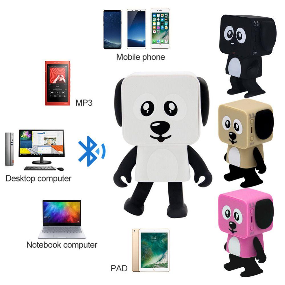 1 Pcs Mini Dancing Bluetooth Speaker Multi-Function innovative Smart Robot Dog Speakers Portable Bluetooth Loudspeaker Creative Gift Toys